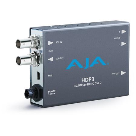 AJA HDP3  3G-SDI To DVI-D Converter/Scaler up to 1080p60