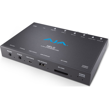 AJA HELO Affordable H.264/MPEG-4 Streaming & Recording for 3G-SDI and HDMI