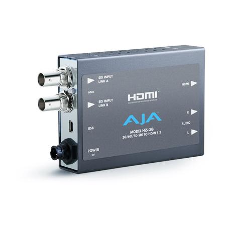 AJA Hi5-3G 3G/Dual-link/HD/SD-SDI To HDMI 1.3a Video & Audio Converter