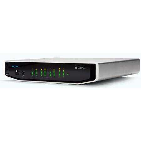 AJA Io 4K Plus 12-bit 4K/UltraHD/HD I/O via Thunderbolt 3 with 12G-SDI and HDMI 2.0 I/O - AC adapter