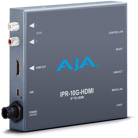 AJA IPR-10G-HDMI SMPTE ST 2110 IP Video/Audio to HDMI Converter