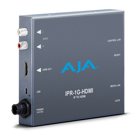 AJA IPR-1G-HDMI JPEG 2000 IP Video and Audio to HDMI Mini Converter