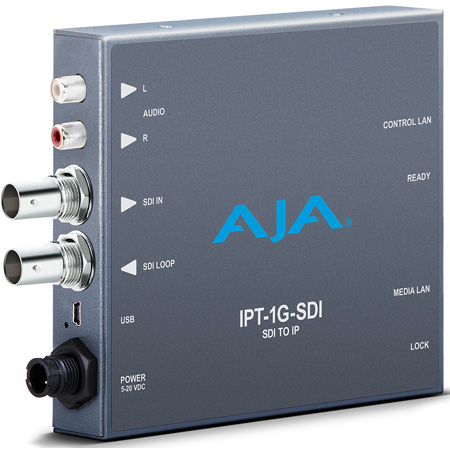 AJA IPT-1G-SDI 3G-SDI Video and Audio to JPEG 2000 Converter