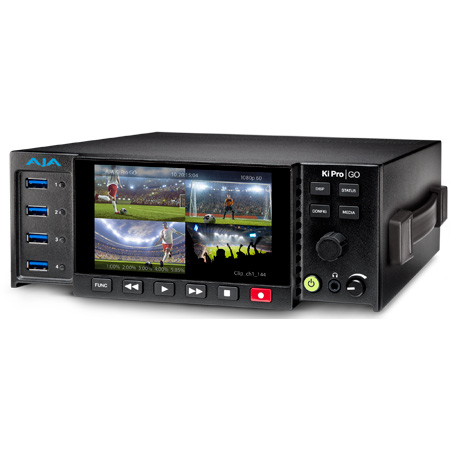 AJA Ki Pro Go Multi-Channel H.264 3G-SDI USB 3.0 Recorder and Player