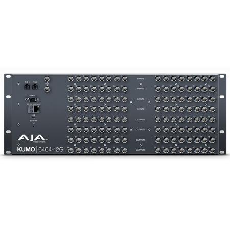 AJA KUMO 6464-12G 2RU Compact 64x64 12G-SDI Router