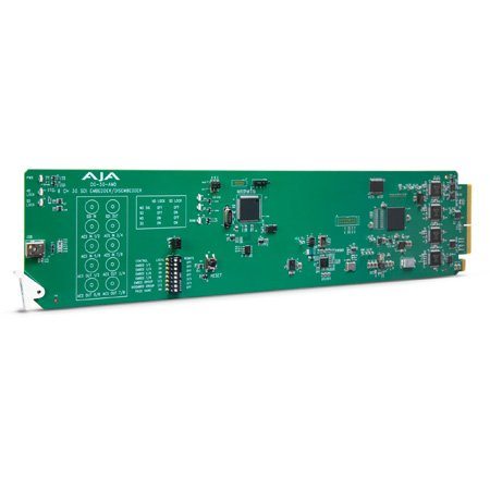 AJA OG-3G-AMD 3G-SDI 8-Channel 24-bit AES Embedder/Disembedder - DashBoard Support