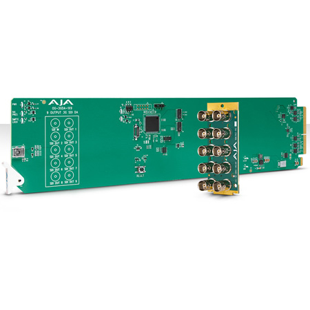 AJA OG-3GDA-1X9 openGear 1x9 3G-SDI Re-clocking Distribution Amp with 10 BNC Rear Module