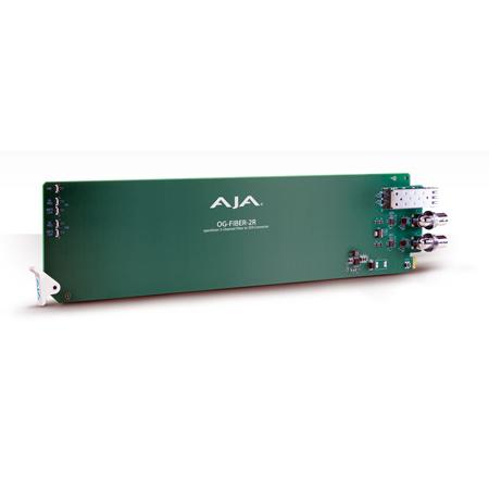 AJA OG-FIBER-2R openGear Receiver 2-Channel LC Fiber to 2-Channel SDI Converter