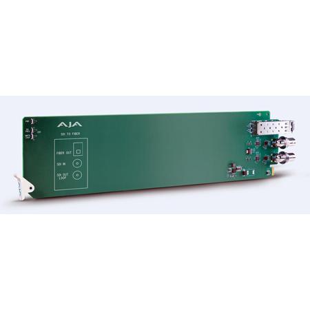 AJA OG-FIBER-TR-MM OpenGear Card 1-Channel 3G-SDI to Multimode LC Fiber Transmitter