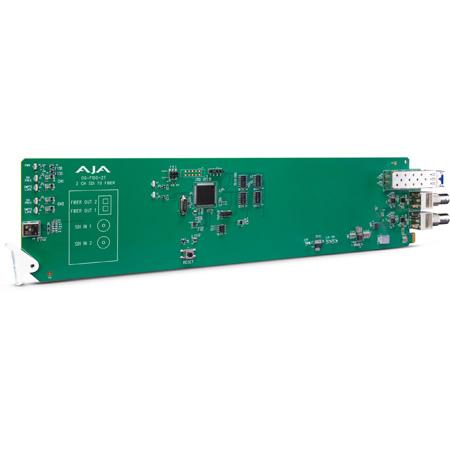AJA OG-FIDO-2T 2-Channel 3G-SDI to Single Mode LC Fiber Transmitter - DashBoard Support