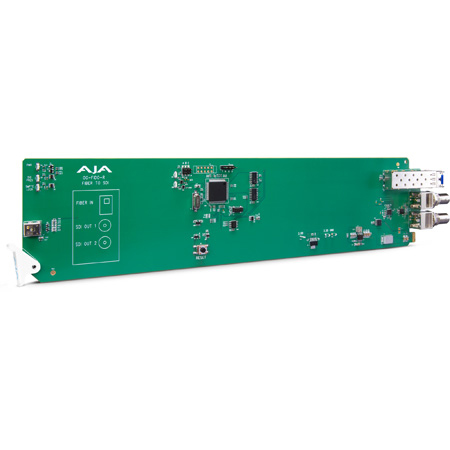 AJA OG-FIDO-R 1-Channel Single Mode LC Fiber to 3G-SDI Receiver - DashBoard Support