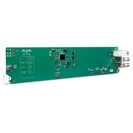 AJA OG-FIDO-T 1-Channel 3G-SDI to Single Mode LC Fiber Transmitter - DashBoard Support