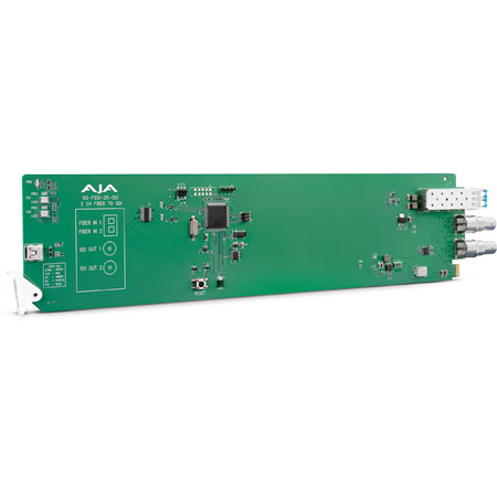 AJA OG-FIDO-2R-12G 2-Channel 12G-SDI/LC Single Mode OpenGear LC Fiber to Receiver - DashBoard Support