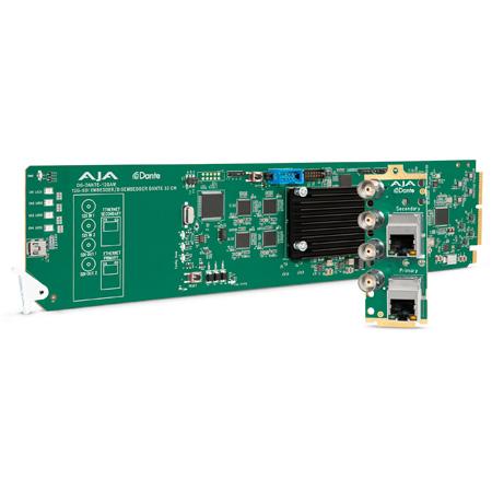 AJA OG-DANTE-12GAM openGear 12G-SDI/DANTE 64-Channel Audio Embedder/Disembedder