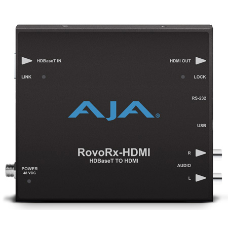 AJA RovoRx-HDMI UltraHD/HD HDBaseT Receiver with Integrated HDMI Video and Audio Outputs