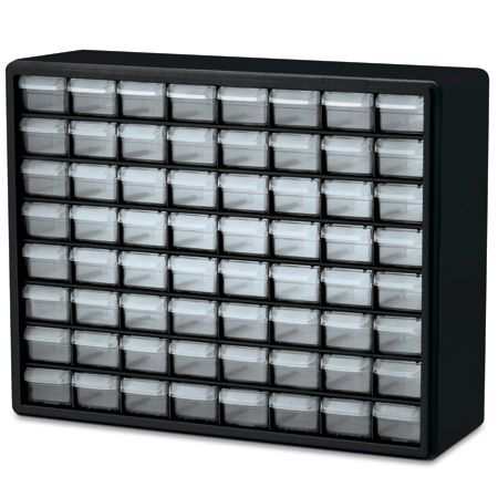 Akro-Mils 10164 64 Drawer Plastic Frame Connector & Fastener Storage Cabinet