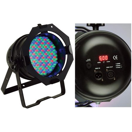 ADJ 64B LED Pro DMX RGB Color Mixing Par Can Stage Lighting - Black