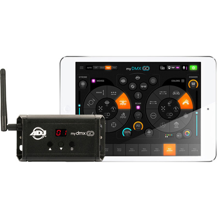 ADJ myDMX GO 256-Channel DMX over Wi-Fi Interface for use with iPad Android or Fire Tablet - Requires Free App