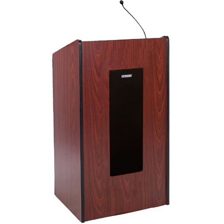 AmpliVox S450-WT Presidential Plus Lectern - Wired Sound - Walnut