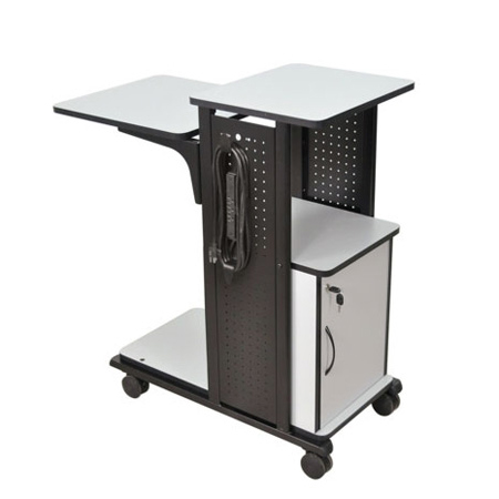 Amplivox SN3310 Mobile Presentation Station with laptop shelf