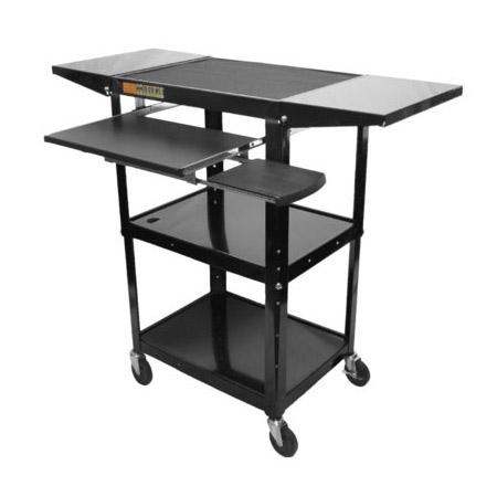 Amplivox SN3370 Adjustable Height Metal Workstation with laptop shelf