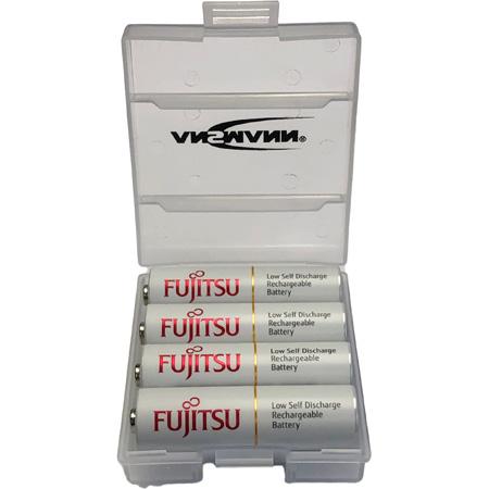Fujitsu 1302-0013-FJ HR3UTC AA Slimline Low Self Discharge Rechargeable Battery - 4 Pk Box
