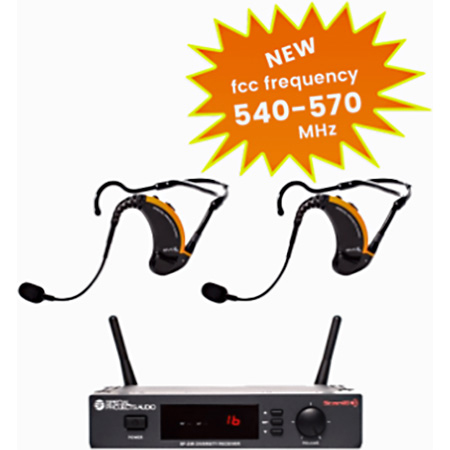 Special Projects SP-2EVO-25-D1 Evo True Wireless System with two Evo headsets & one SP-25R Scan16 Receiver