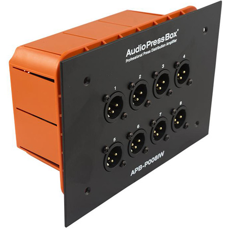 AudioPressBox APB-P008-IW-EX Passive In-wall AudioPressBox with 1 Line Input and 8 Mic Outputs
