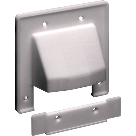 Arlington CER2 2 Gang Reversible 2-Piece Low-Voltage Cable Entrance Wall Plate - White
