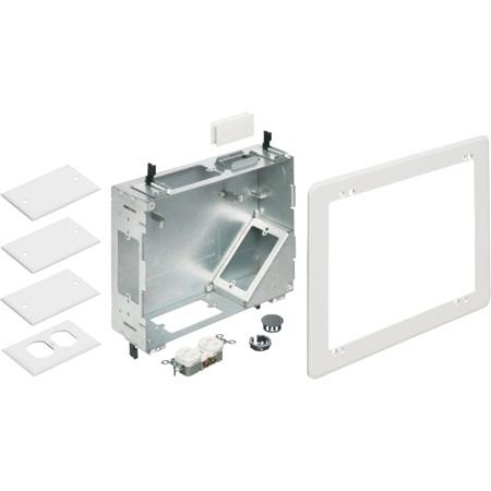 Arlington TVBS810 Steel TV Box with Flange - 8 Inch x 10 Inch - White