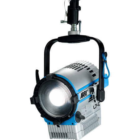 ARRI L0.0015217 L7-C LE2 7 Inch LED Fresnel - powerCON Cable / Black / Manual Mount (barndoors not included)