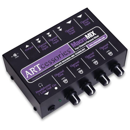 ART MacroMIX 4 Channel Line Level Unbalanced Personal Audio Mixer