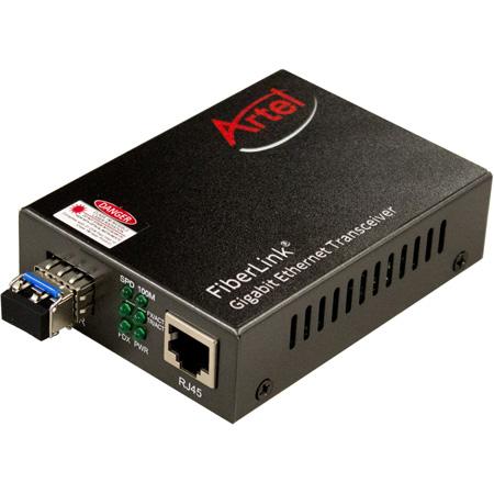 Artel FiberLink 5100A-B7L Ethernet Transceiver SM & MM - 1310nm SFP Module & Power Supply Included