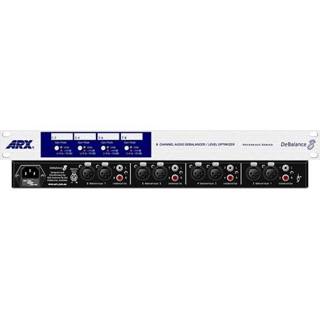 ARX DE-Balance-8 4 Stereo (8 Mono) XLR  in to RCA Level Optimizer