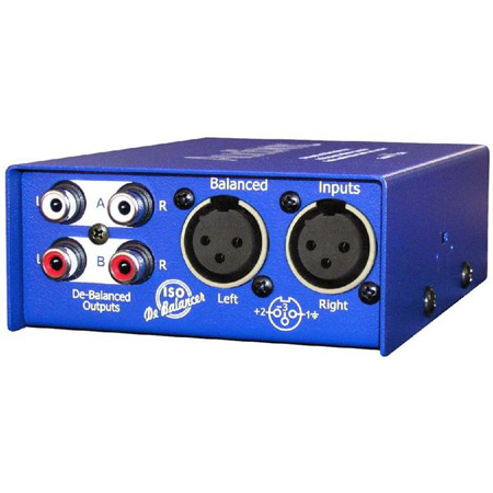 ARX IB-2 Audibox ISO De-Balancer Stereo XLR Balanced to Unbalanced RCA