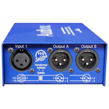 ARX IS-1 Audibox Iso Splitter Transformer Isolated 1 In 2 Out Splitter