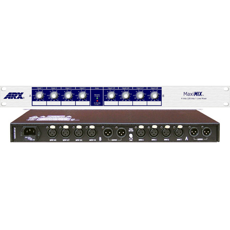 ARX Maximix 2 Independent Mixdown - 4 Into 2 or 8 Into 1 Line Audio Mixer
