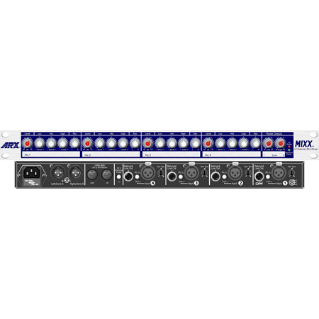 ARX Mixx 4 Channel Mic /Line Mixer with 3 Way EQ On All 4 Channels
