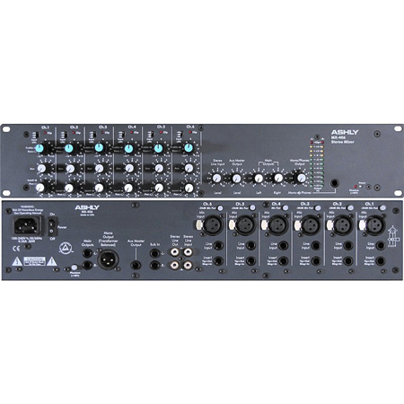 Ashly 6 Input Stereo Mic / Line Mixer with EQ