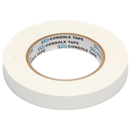 Pro Tapes 001C3460MWHT 3/4-Inch Wide White Removable Console Tape