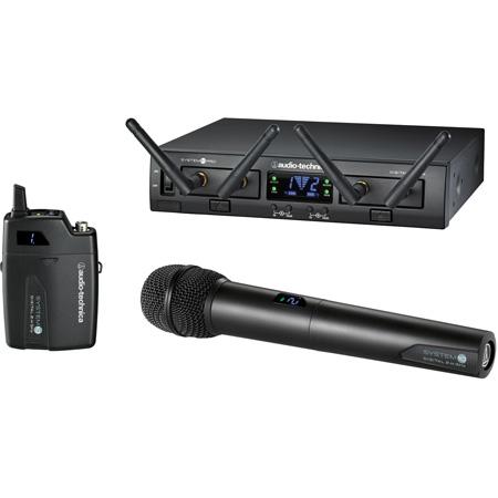 Audio-Technica ATW-1312 System 10 Pro Digital Wireless with Handheld Mic/TX& 2 RX Units & 1 Bodypack TX