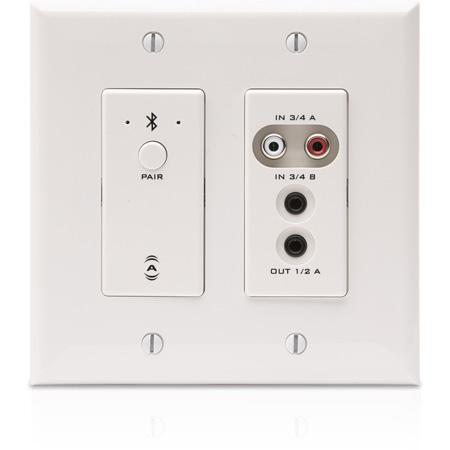 Attero Tech UND6IO-BT Multi I/O AES67/Dante Wall Plate with Bluetooth - 4 x 2