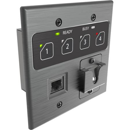 Attero Tech Zip4 4-Zone Dante Paging Interface - 2 gang