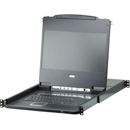 ATEN CL6708MW Single Rail 8-Port DVI Full HD LCD KVM Switch