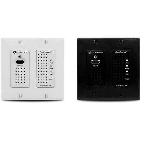 Atlona AT-OMNI-111-WP Wall Plate Single Channel OmniStream AVoIP Encoder