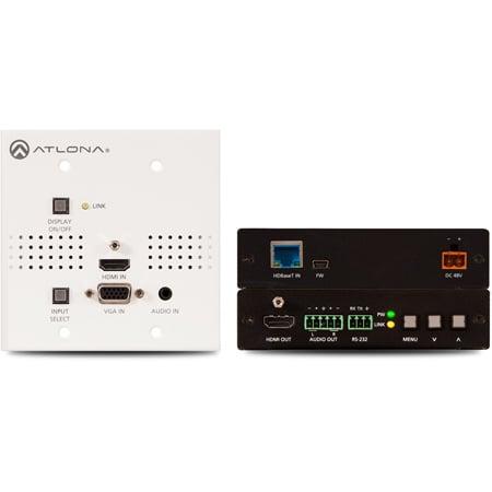 Atlona AT-HDVS-150-WP-KIT Wallplate HDBaseT TX/RX for HDMI/VGA includes AT-HDVS-150-RX and AT-HDVS-150-TX-WP Combo Kit