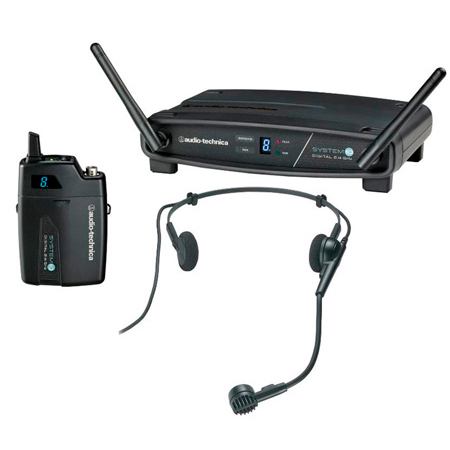 Audio-Technica ATW-1101/H System 10 Digital Wireless PRO 8HEcW Headworn System