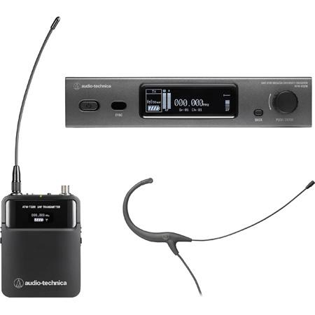 Audio Technica ATW-3211/892DE2 Wireless System R3210 Receiver T3201 BodyPack Transmitter w/ BP892cH Head Mic 470-530 MHz