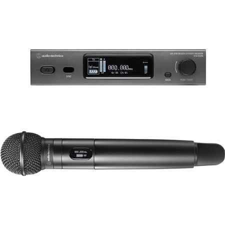 Audio Technica ATW-3212/C510DE2 Wireless System R3210 Receiver T3202 Handheld Transmitter C510 Mic Capsule 470-530 MHz