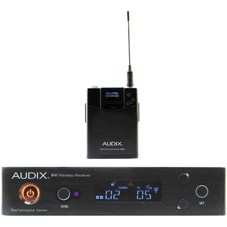 Audix AP41BPB Wireless Mic System with R41 Receiver and B60 Bodypack Transmitter - 554MHz - 586MHz